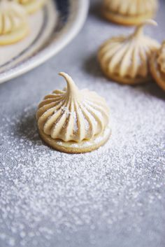 Nutmeg Shortbread with Maple Meringues