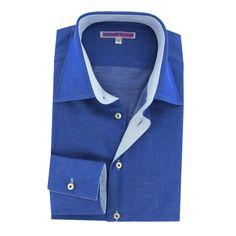 http://www.cotondoux.com/11453-thickbox/chemise-bleue-avec-micros-points-blancs-coupe-ajustee-homme.jpg