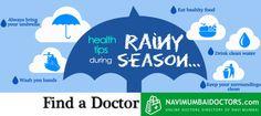 TIPS FOR MONSOON  www.NaviMumbaiDOctors.com #HealthTips #Health #Monsoon #Rainyseason #Rain #cleanwater #Healthyfood #Handwash