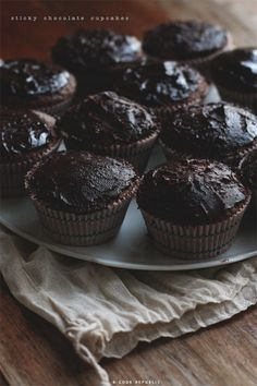 Sticky Chocolate Cupcakes @Sneh Roy | Cook Republic