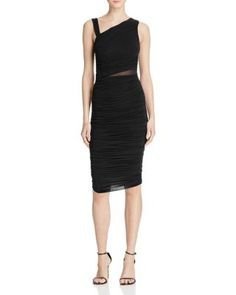 Bailey 44 Mahave Mesh-Inset Ruched Dress | Bloomingdale's