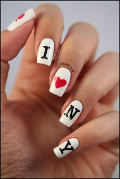 I ♥ NY Nail art - Stamping with MoYou London Stamping Plates