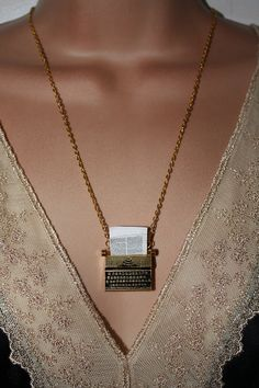 The Writer - Gold Plated Typewriter Necklace