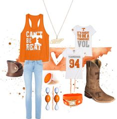 """Tennessee Vols"" by raewehby on Polyvore"