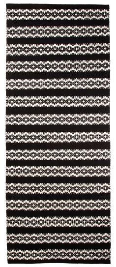 Vallila Interior AW14, Leopardi rug black 80x200cm
