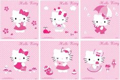 Hello Kitty Backgrounds, Hello Kitty Pictures, Kids Rugs, Cover, Pattern, Character, June, Home Decor, Friends