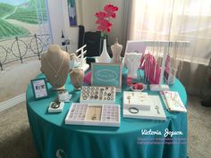 I'm loving my round table Origami Owl Jewelry Bar display! I love that my customers can work their way around the table and shop with ease. Always looking for new jewelry bar ideas!
