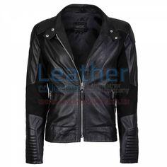 Deuce Classic Biker Leather Jacket Black - https://www.leathercollection.us/en-we/deuce-classic-biker-leather-jacket-black.html Biker leather jacket, classic biker jacket #BikerLeatherJacket, #ClassicBikerJacket