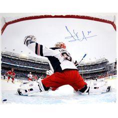 Henrik Lundqvist Autographed 'Stadium Series In-Net' 22x26 Canvas