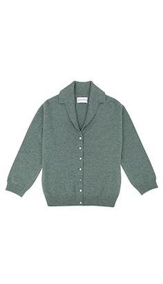 Cashmere Vintage Collared Cardigan