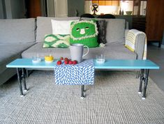 Pipe fitting coffee table