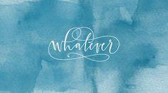 Blue teal watercolor Whatever desktop wallpaper background