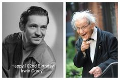 Tomorrow July 29th is Irwin Corey's 102nd Birthday.  He will be celebrating it with family and friend Bob Greenberg and others at his home in New York City.  Happy Birthday 102nd Birthday Irwin Corey!