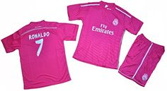 Amazon.com   2014-2015 Ronaldo  7 Real Madrid Away Kids Set Size  2-4-6-8-10-12-14-16 (8)   Sports   Outdoors. Al Aire Libre ... ff8a0976b5d88