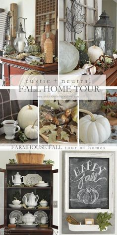 Check out this beautiful rustic and neutral fall home tour from anderson and grant.
