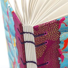 Closeup of the spine of a handmade book | by MissRuth