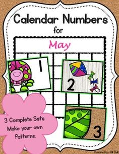 This product contains 3 complete sets of printable calendar numbers appropriate for the month of May.