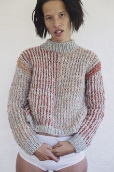 Handknitted Jumper. Slight drop shoulder. Handspun and dyed naturally with madder root in the Marlborough Sounds. 100% Gotland Wool One size, stret...