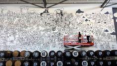 Big art on Faction walls by Lauren Asta -Stephen Macmillian, SLM-AIA Architecture