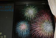 2014/7/30掲載 家の窓にも花火が上がったよ!  https://www.facebook.com/kitpas2005  #kitpas #キットパス #window #windowart #doodle