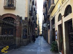 """A little Street in the near of the """"Rambla"""". I like such little streets with old buildings."""