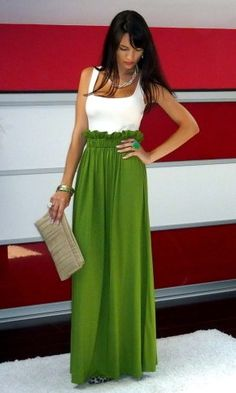 Been on the hunt for one of these...High-Waisted Maxi Skirt