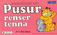 """Pusur renser tenna"" av Jim Davis"
