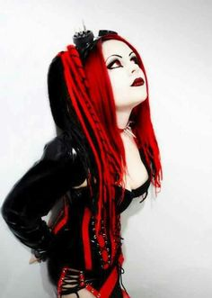 #Red and Black cyberGoth