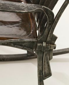 ABANA Hand forged steel rocking chair. Tenon and wedge joint