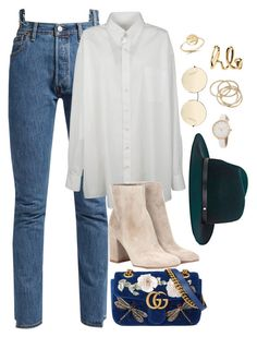 """Untitled #3727"" by theaverageauburn ❤ liked on Polyvore featuring Vetements, Maison Margiela, Gianvito Rossi, Gucci, rag & bone, Victoria Beckham, Bing Bang, ABS by Allen Schwartz and Chloé"