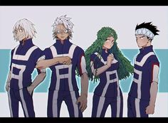 Boku no Hero Academia || Juuzou Honenuki, Tetsutetsu Tetsutetsu, Ibara Shiozaki, Yousetsu Awase.
