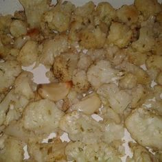 Roasted Cauliflower And 16 Roasted Cloves Of Garlic Recipe - Sounds odd... But I've heard RAVING reviews!