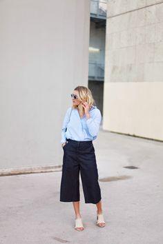 5 Super Stylish Ways To Wear Denim Culottes