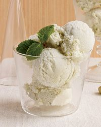 Mint Ice Cream - This exceptionally creamy ice cream relies on two unexpected ingredients: corn starch (to help thicken it) and cream cheese (to make it scoopable).