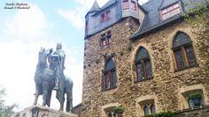Statue of Count Engelbert II in front of Schloss Burg, Solingen