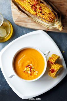 Zupa z pieczonej dyni i pieczonych pomidorów