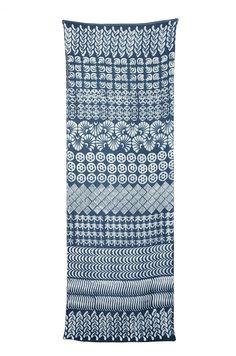 Multi prints scarf indigo batik - NurZahra The Luminous Light