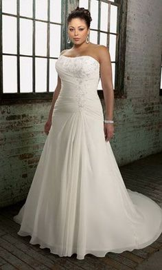 Wedding Dresses, Bridesmaid Dresses, Prom Dresses and Bridal Dresses Mori Lee Julietta Wedding Dresses - Style 3103 - Mori Lee Julietta Wedding Dresses, Fall Strapless delicate chiffon gown with an embroidered lace detail. Wedding Dress 2013, Plus Size Wedding Gowns, Wedding Dress Chiffon, Applique Wedding Dress, Wedding Dresses Plus Size, Best Wedding Dresses, Cheap Wedding Dress, Wedding Attire, Bridal Dresses