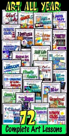 MegaBundle of art lessons for elementary classrooms - enough for an entire year and beyond! Complete lessons include introduction, directions, art appreciation, extensions, and curriculum connections.