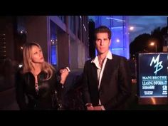 Perry Farrell outside Boa Steakhouse with his wife Etty Lau Farrell