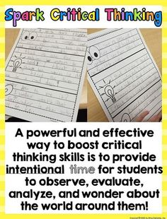 Is Your Morning Work Making Kids THINK?