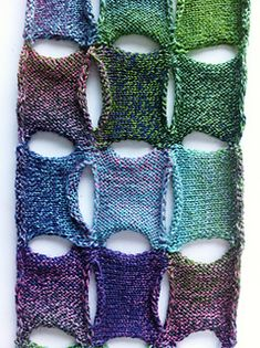 Connected ad the corners scarf by Joan Wiens