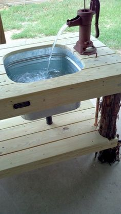 DIY Outdoor Sink Craftiness Pinterest Gardens Sinks And DIY And Crafts