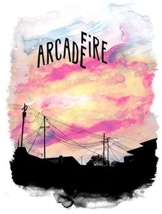 Arcade Fire- this would actually be pretty cool to attempt with watercolors too!