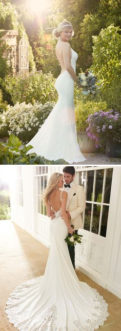 Backless, open back and low back wedding dresses from bridal designer Martina Liana