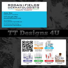 Rodan fields business card template rodan and fields pinterest rodan and fields business card rodan and fields by ttdesigns4u 1000 fbccfo Choice Image