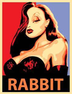 'Jessica Rabbit', art print by Thomas Moore  on artflakes.com