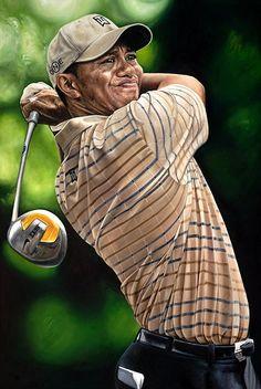 Tiger Woods by Artist Justyn Farano
