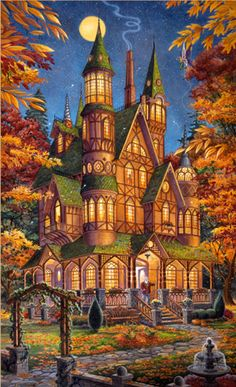 Autumn Magic by Randal Spangler, local KC artist, I have to get these!