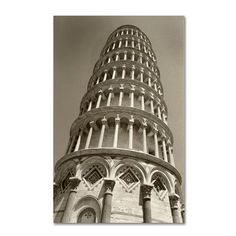 "Trademark Art ""Pisa Tower II"" by Chris Bliss Photographic Print on Wrapped Canvas Size: 32"" H x 22"" W x 2"" D"